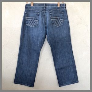 7 For All Mankind Relaxed Button Fly Jeans 36x29